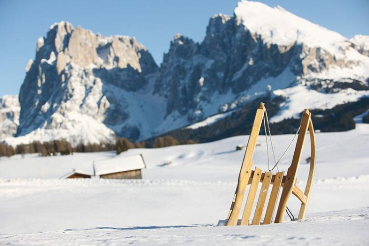 Winter countryside – Seiser Alm