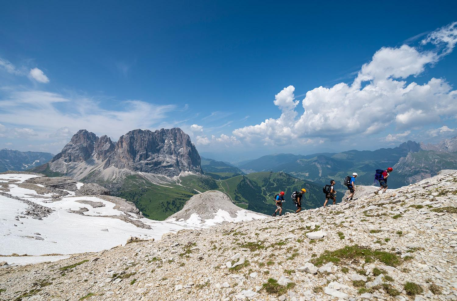 Hiking in the Sella Group, Pössnecker