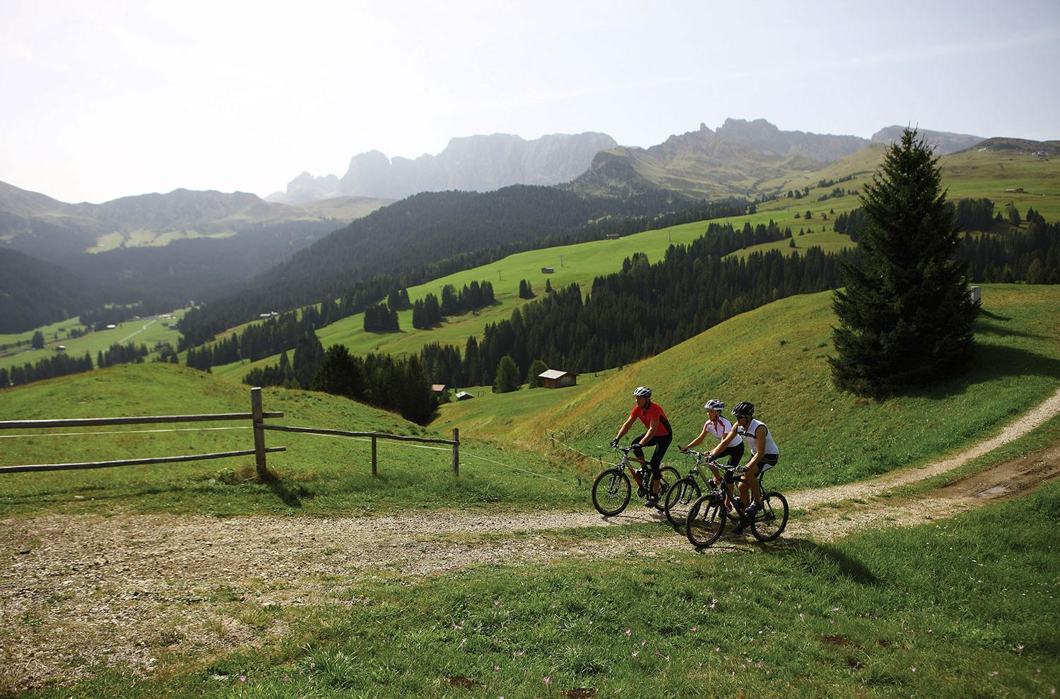 Mountain biking in the Dolomites of South Tyrol